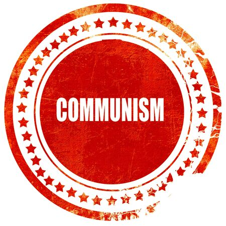 communism: communism, isolated red rubber stamp on a solid white background