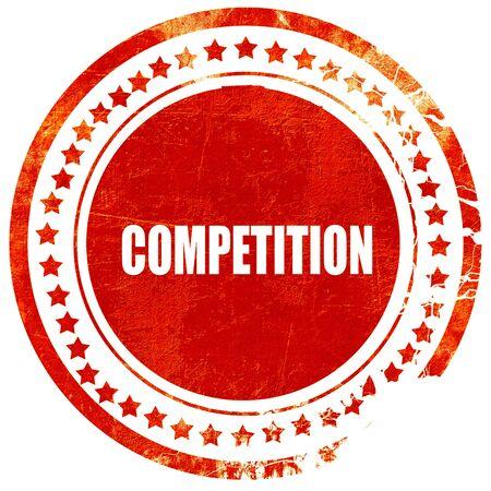 competitividad: la competencia, aislado sello de goma de color rojo sobre un fondo blanco s�lido