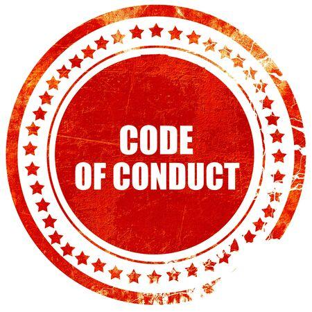 code de conduite, isolé tampon en caoutchouc rouge sur un fond blanc uni