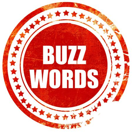 buzzword: buzzword, isolated red rubber stamp on a solid white background