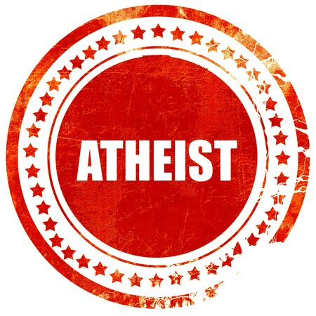 atheist: atheist, isolated red rubber stamp on a solid white background
