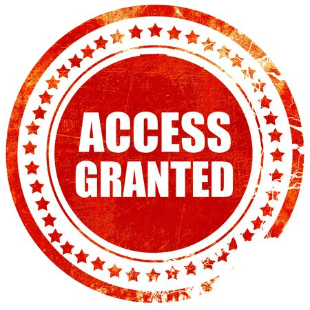 access granted: access granted, isolated red rubber stamp on a solid white background Stock Photo