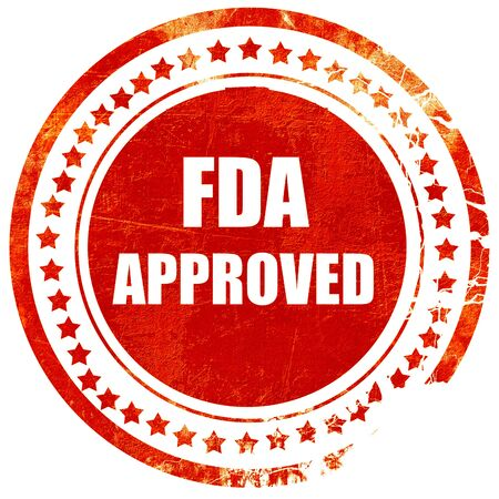 fda: FDA approved background with some smooth lines, isolated red rubber stamp on a solid white background