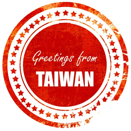 Greetings from taiwan card with some soft highlights isolated greetings from taiwan card with some soft highlights isolated red rubber stamp on a solid m4hsunfo
