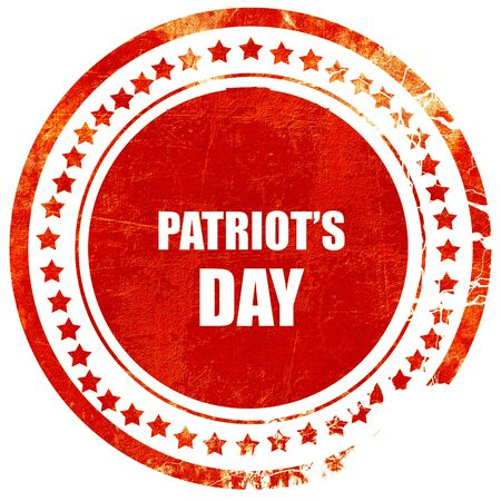 patriots: patriots day, isolated red rubber stamp on a solid white background Stock Photo