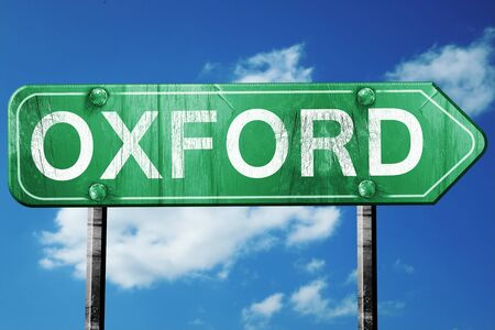 oxford: oxford road sign on a blue sky background Stock Photo