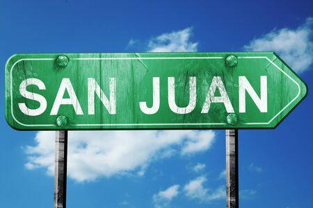 san juan: san juan road sign on a blue sky background