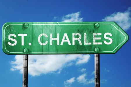 st charles: st. charles road sign on a blue sky background
