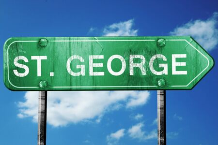 george: st. george road sign on a blue sky background