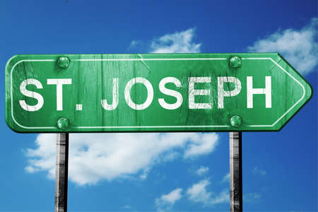 st  joseph: st. joseph road sign on a blue sky background