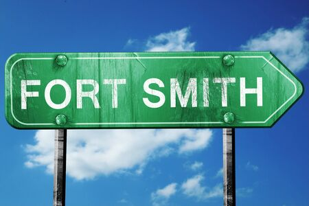 smith: fort smith road sign on a blue sky background