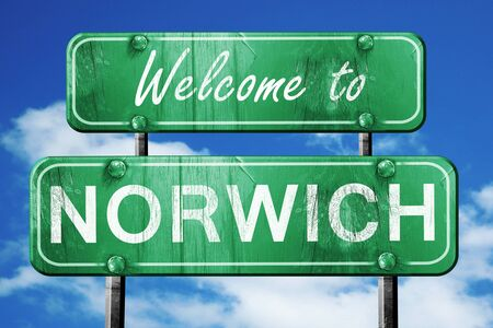 Welcome to norwich green road sign