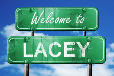 lacey: Welcome to lacey green road sign