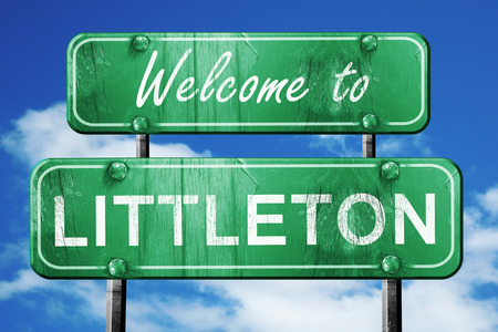 littleton: Welcome to littleton green road sign