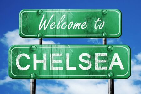 chelsea: Welcome to chelsea green road sign
