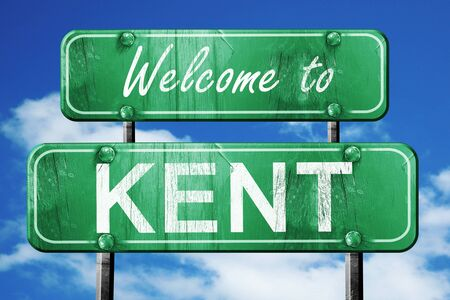 Welcome to kent green road sign