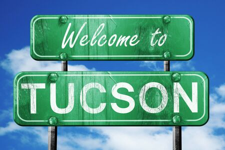 tucson: Welcome to tucson green road sign