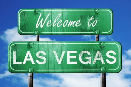las vegas sign: Welcome to las vegas green road sign