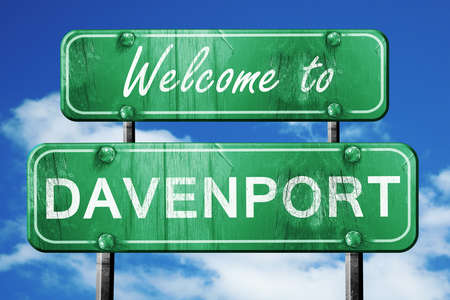 davenport: Welcome to davenport green road sign