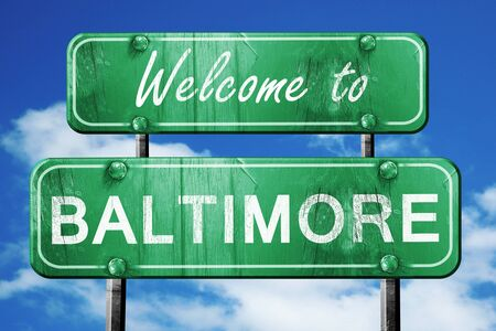 baltimore: Welcome to baltimore green road sign