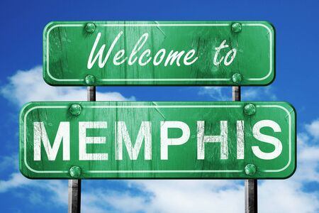 Welcome to memphis green road sign