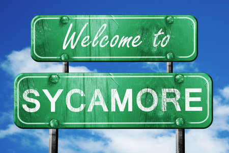 sycamore: Welcome to sycamore green road sign