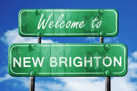 brighton: Welcome to new brighton green road sign
