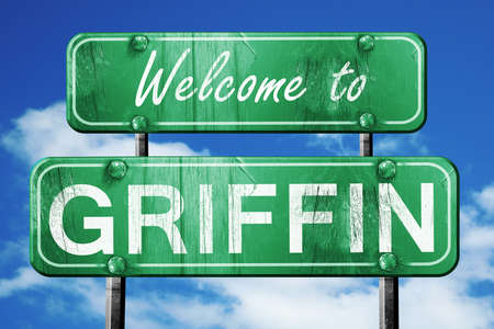 griffin: Welcome to griffin green road sign