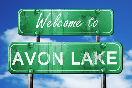 avon: Welcome to avon lake green road sign