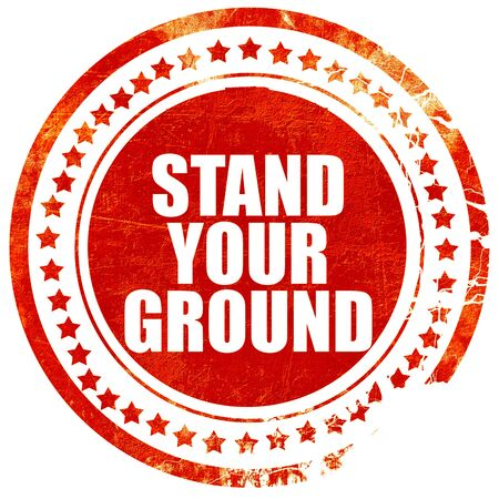 justify: stand your ground, isolated red stamp on a solid white background Stock Photo