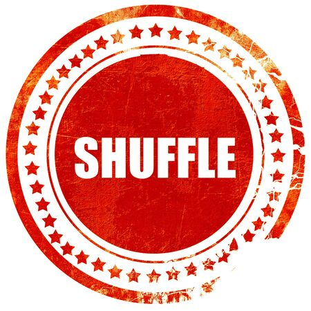 footwork: shuffle dance, isolated red stamp on a solid white background