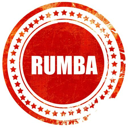 rumba: rumba dance, isolated red stamp on a solid white background