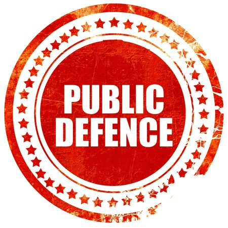 make public: public defence, isolated red stamp on a solid white background