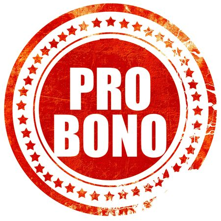 bono: pro bono, isolated red stamp on a solid white background