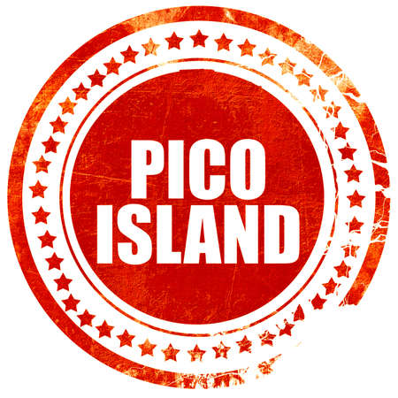 agriculture azores: pico island, isolated red stamp on a solid white background Stock Photo