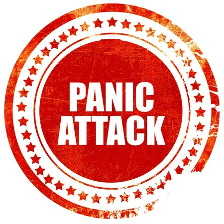 psychologically: panic attack, isolated red stamp on a solid white background Stock Photo