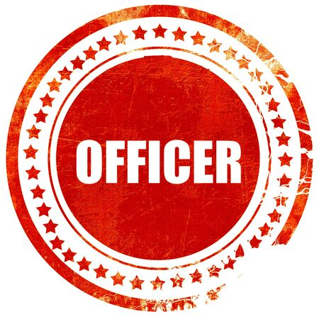 lightbar: officer, isolated red stamp on a solid white background Stock Photo