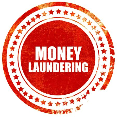 aml: money laundering, isolated red stamp on a solid white background Stock Photo