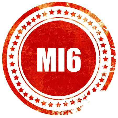 mi6 secret service, isolated red stamp on a solid white background Stock Photo