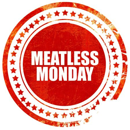 meatless: meatless monday, isolated red stamp on a solid white background Stock Photo