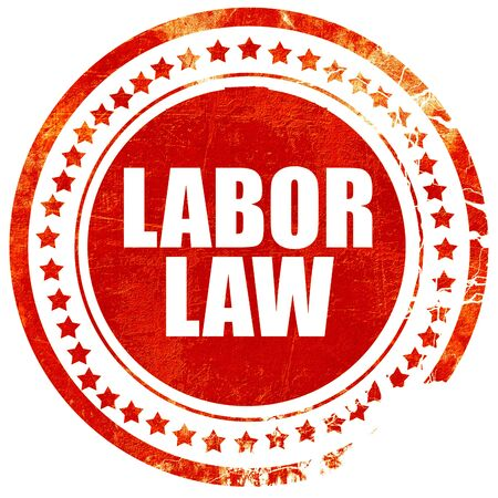 reference book: labor law, isolated red stamp on a solid white background
