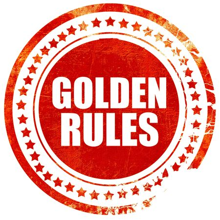golden rule: golden rules, isolated red stamp on a solid white background Stock Photo