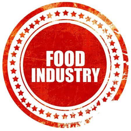food industry: food industry, isolated red stamp on a solid white background