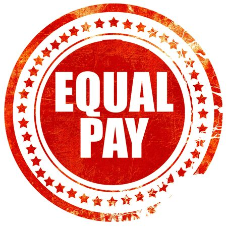 lawful: equal pay, isolated red stamp on a solid white background