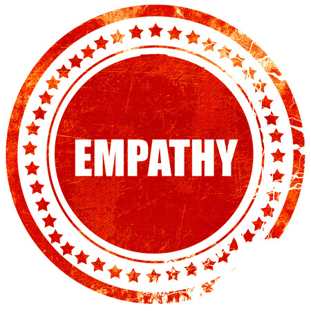 empatia: la empat�a, aislado sello rojo sobre un fondo blanco s�lido