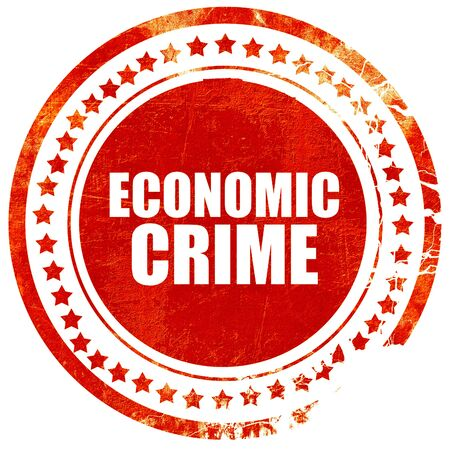crime: economic crime, isolated red stamp on a solid white background