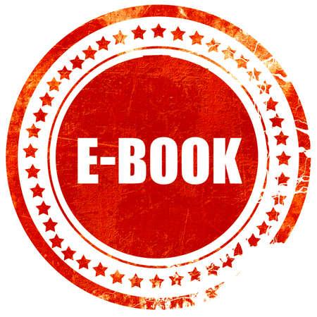 E-boek, geïsoleerde rode stempel op een effen witte achtergrond Stockfoto - 55283142