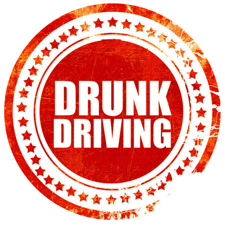 drunk driving: drunk driving, isolated red stamp on a solid white background