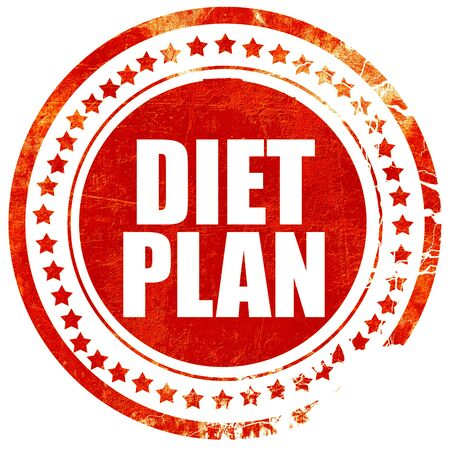 diet plan: diet plan, isolated red stamp on a solid white background