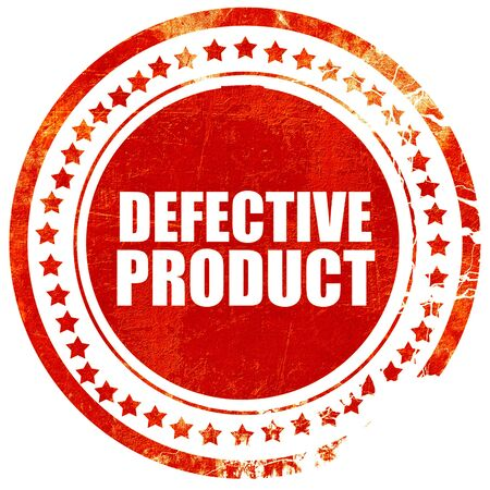 defective: defective product, isolated red stamp on a solid white background Stock Photo